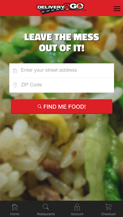 Delivery2Go- screenshot