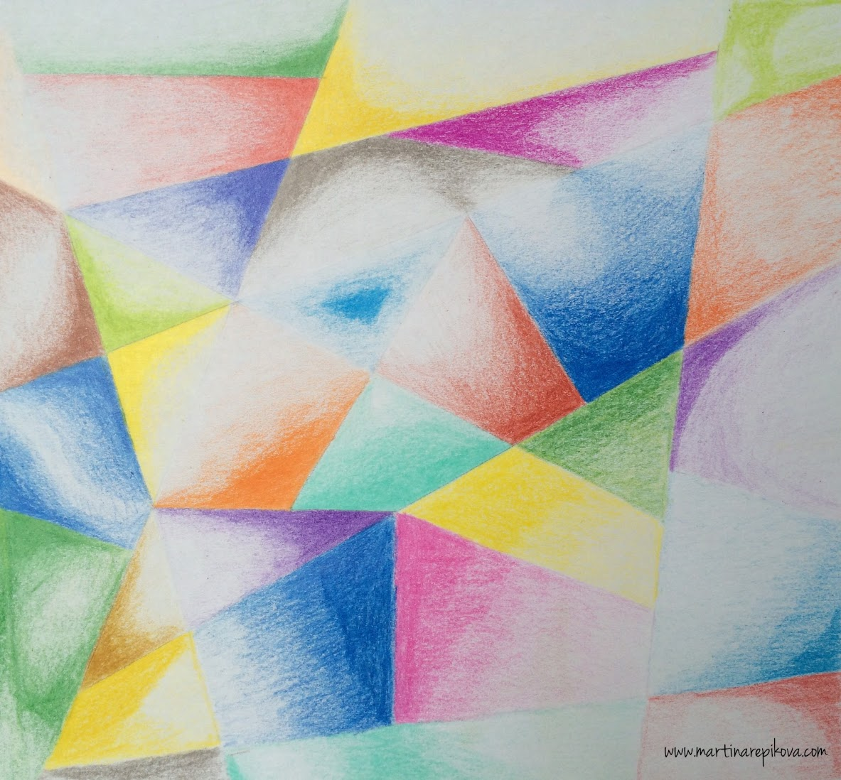 Geometry (a coloured pencil drawing)