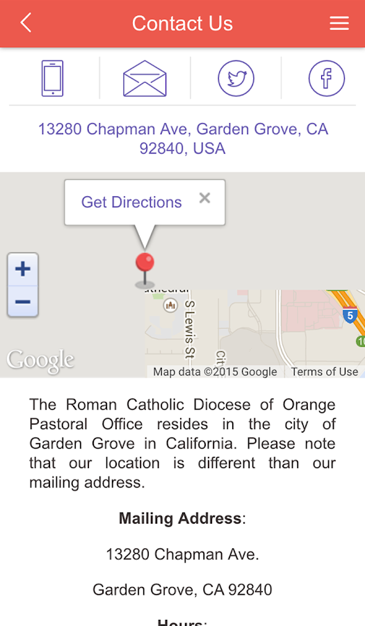 Diocese of Orange- screenshot