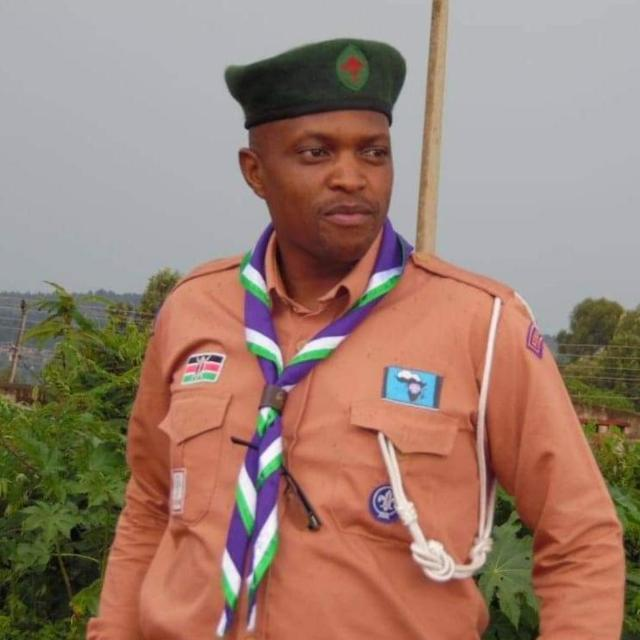 Karim Charles-, the Scout Commissioner based in Ainamoi sub-county.