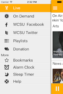 WCSU Public Radio App- screenshot thumbnail