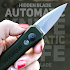 Hidden blade automatic knife prank game