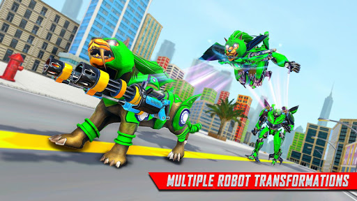 Lion Robot Car Transforming Games: Robot Shooting 1.4 screenshots 16
