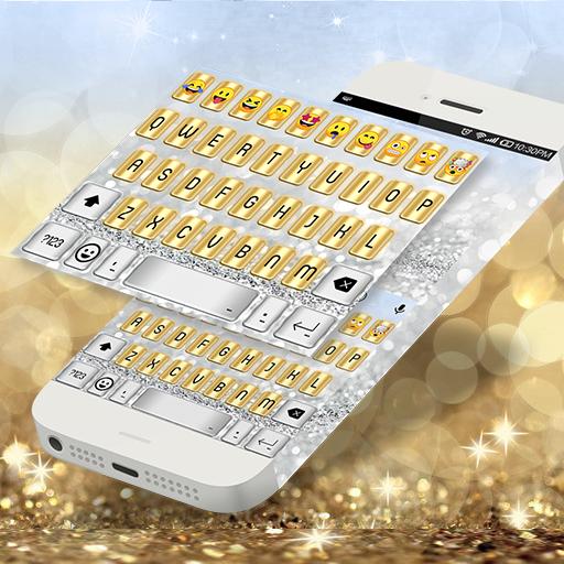 Gold Silver Emoji Keyboard