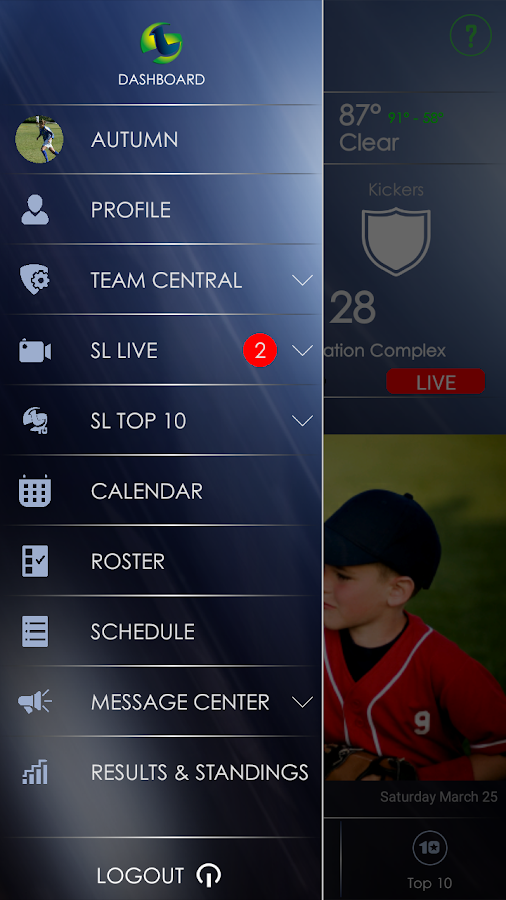 SL Team App- screenshot