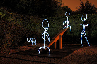 Photo: Playground I - Light painting by Christopher Hibbert, french photographer and light painter. Further information: http://www.christopher-hibbert.com