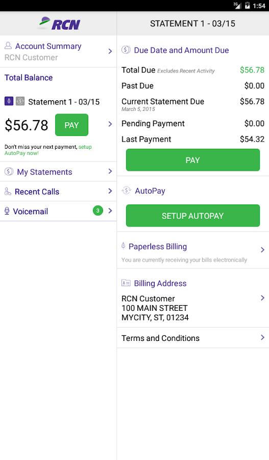 RCN Mobile - screenshot