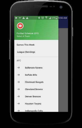 Football Schedule 2015