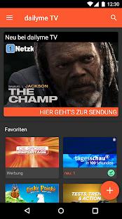 dailyme TV, Serien, Filme & Fernsehen TV Mediathek Screenshot