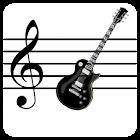 Notas Musicais na guitarra icon