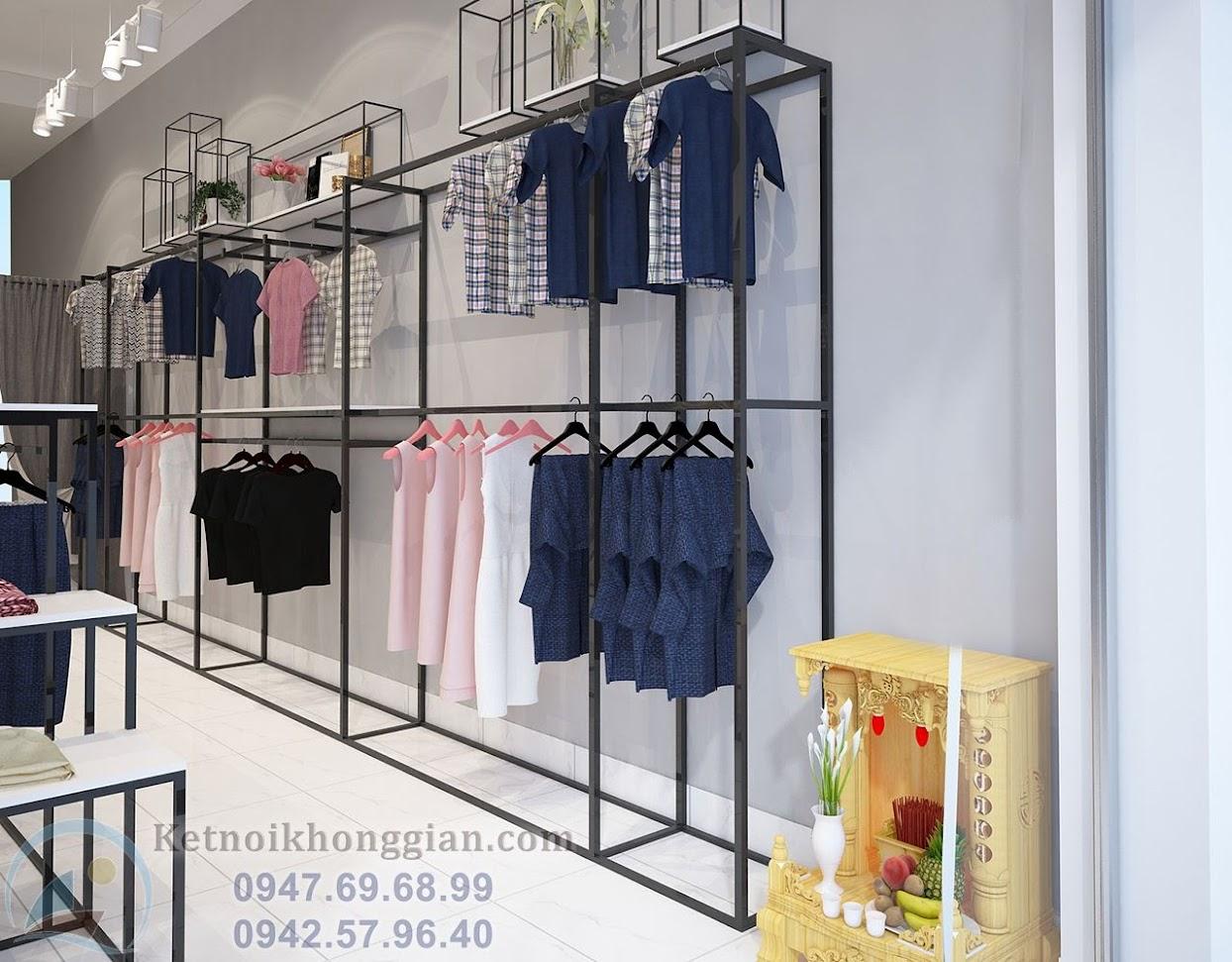 thiết kế shop thời trang công sở bền vững và đẹp