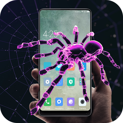 Spider in phone prank (app)