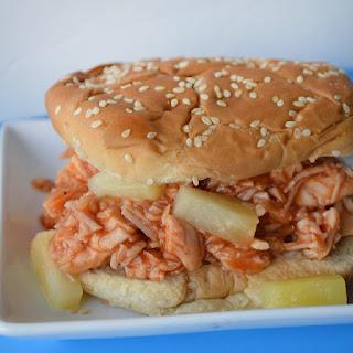 5 minute Hawaiian BBQ Chicken Sandwiches
