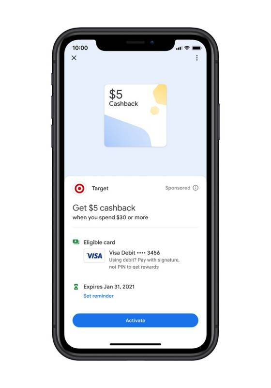 Cashback no novo app do Google Pay