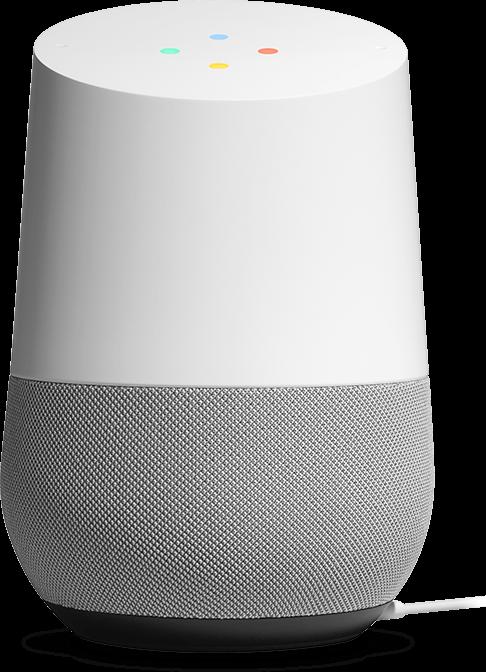 音声アシスタント機能を備えた Google Home スピーカー