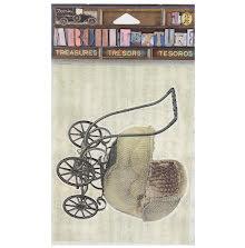 7 Gypsies Architextures Treasures Adhesive Embellishments - Baby Carriage UTGÅEN