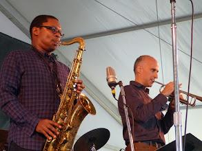 Photo: Ravi Coltrane sax, Ralph Allessi tr