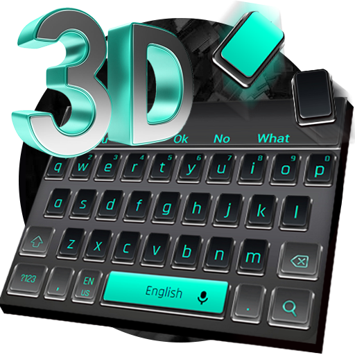 3D Black Keyboard Theme