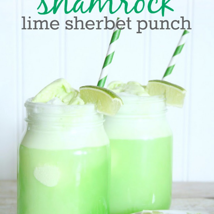Shamrock Lime Sherbet Punch Recipe