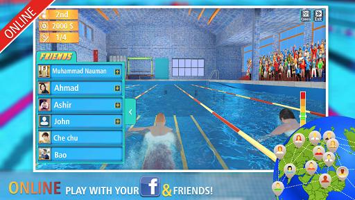 Télécharger Swimming Contest Online : Water Marathon Race APK MOD (Astuce) screenshots 1