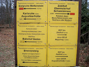 Photo: Viele Wege führen vom Hohen Lindkogel weg - wir gehen Richtung Burgruine Merkenstein.
