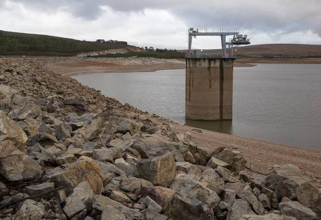 Theewaterskloof Dam during a severe drought in the Western Cape. File photo