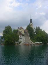 Photo: A Bledi tó romantikus szigete