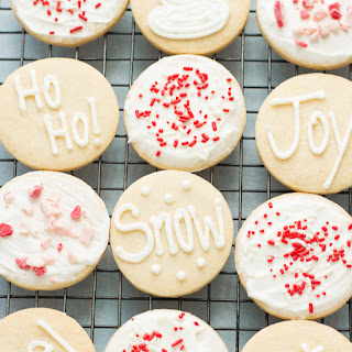 Sugar Cookies with Peppermint Buttercream Recipe