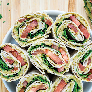 Avocado & White Bean Salad Wraps