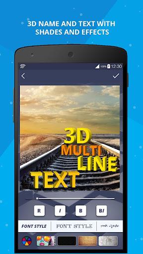 3D Name on Pics - 3D Text 8.1.1 screenshots 16