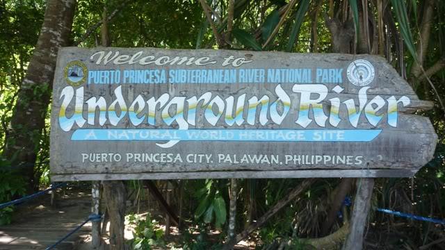 Underground River sign