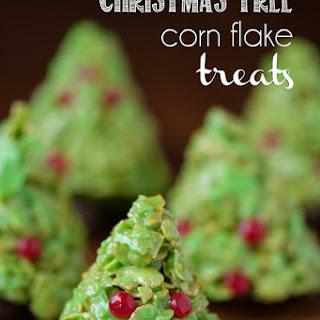 Christmas Tree Corn Flake Treats