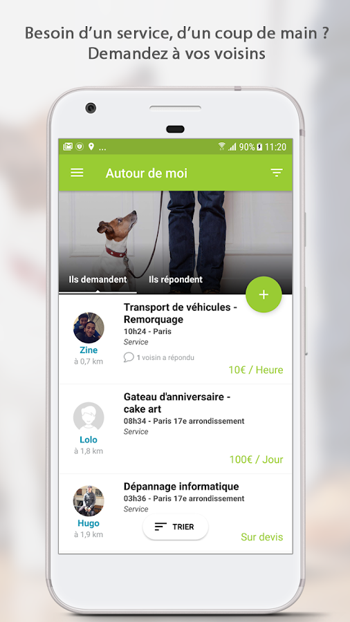 AlloVoisins - location service- screenshot