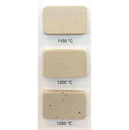 Stengodslera med mindre prickar och chamotte - 1000-1280°C