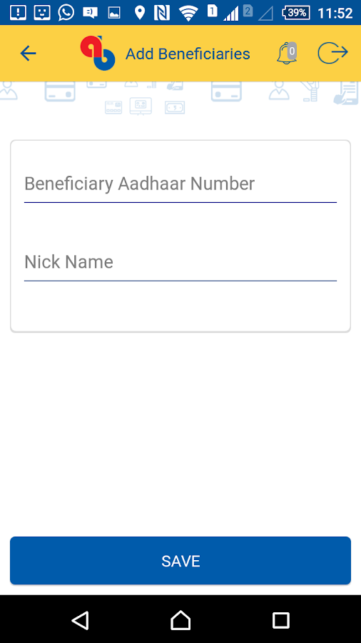 Andhra Bank ONE – UPI App- screenshot