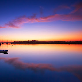 Echoes by José Ramos - Landscapes Waterscapes ( mirror, reflection, nature, waterscape, algarve, alvor, portugal, landscape, boat, nd filter )