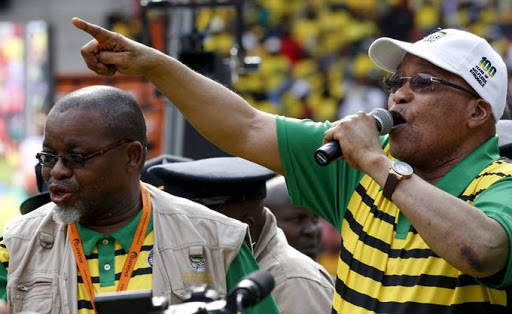 ANC secretary-general Gwede Mantashe and President Jacob Zuma. Picture: REUTERS, MIKE HUTCHINGS