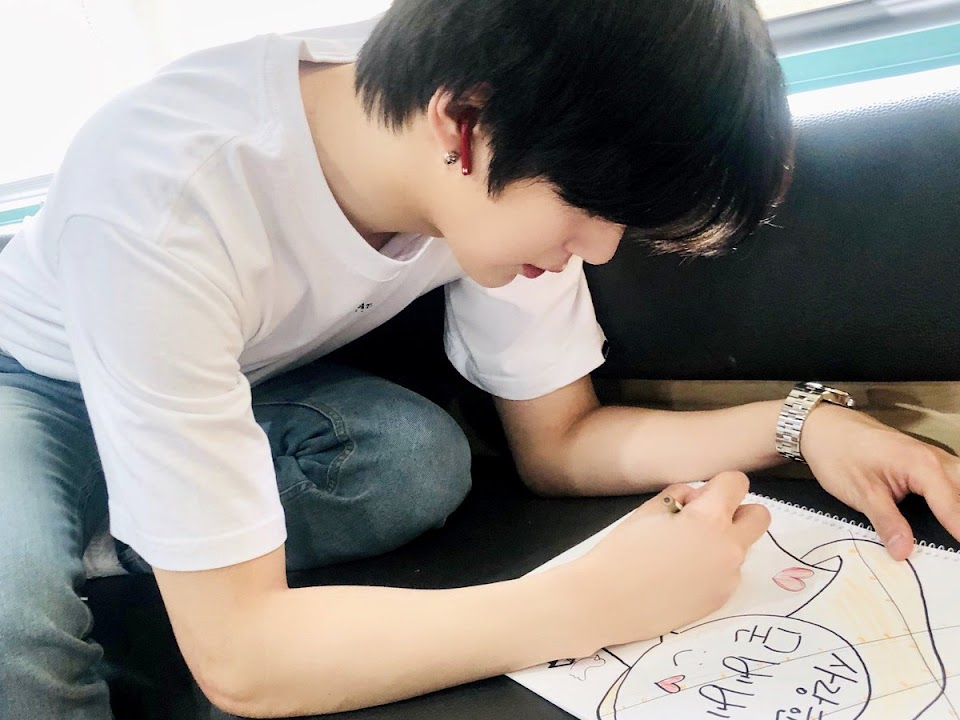 MONSTA X_DRAWING_MINHYUK_MAKING