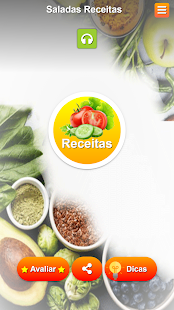 Download Saladas receitas:comida saudável ​​com Nutrição For PC Windows and Mac apk screenshot 1