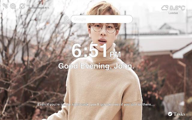 Jin BTS HD Wallpapers New Tab