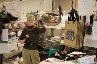 Photo: Jan Alford, of Alford Family Farms & Spinnery, at Delmarva Wool & Fiber Expo 2015 (Fall) | Photograph Copyright Robert J Banach #oceancitycool