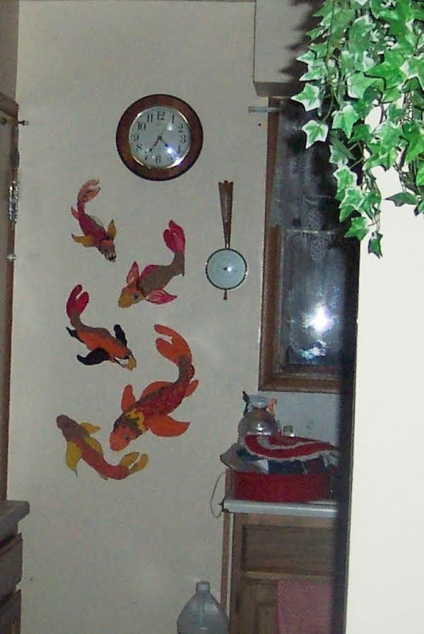 Painted Koi On My Kitchen Wall