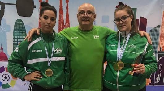 Mouna y Rafaela triunfan en el Campeonato de España de Halterofilia
