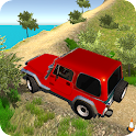 Offroad Jeep mountain 3d icon