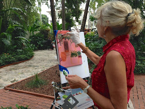 Photo: Pam /Painting plein air at the Society of the Four Arts 12-12-13