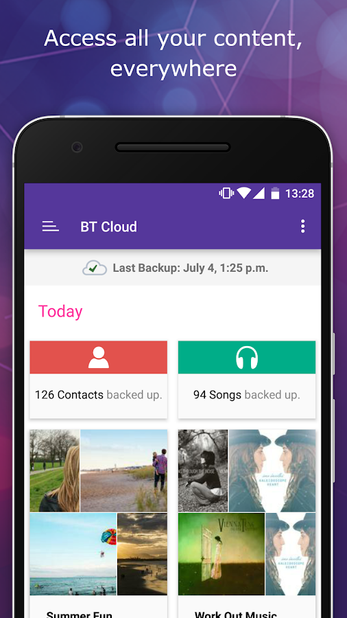 BT Cloud- screenshot