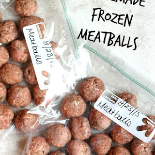 Homemade Frozen Meatballs