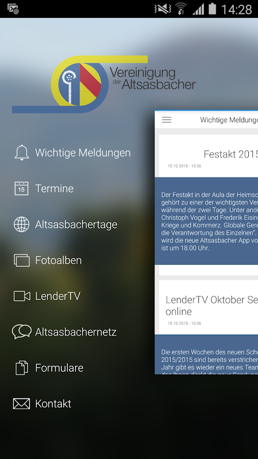 Altsasbacher App – Screenshot