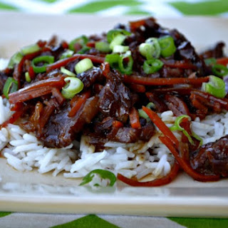 Crockpot Mongolian Beef.