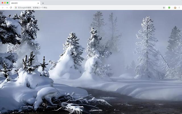 Winter Popular Scenery HD New Tabs Theme
